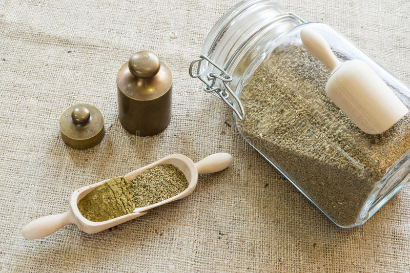 Ground celery seed stock photography