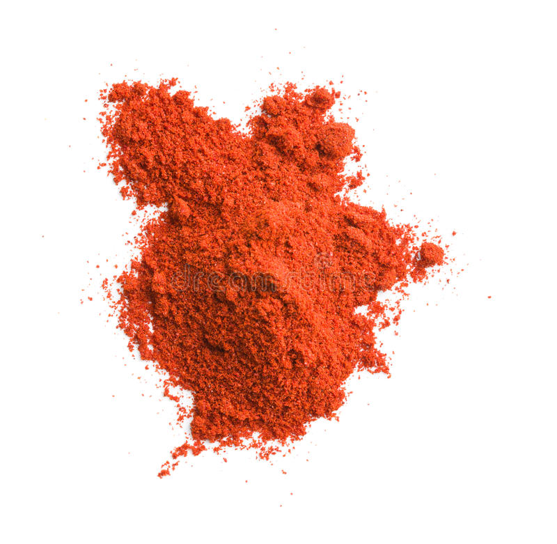 Ground chili pepper. Powdered pepperoni stock image