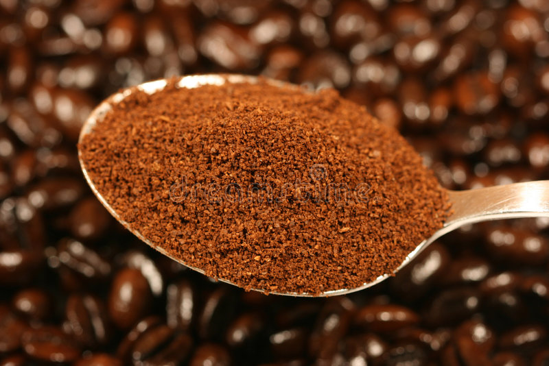 Ground coffee royalty free stock image