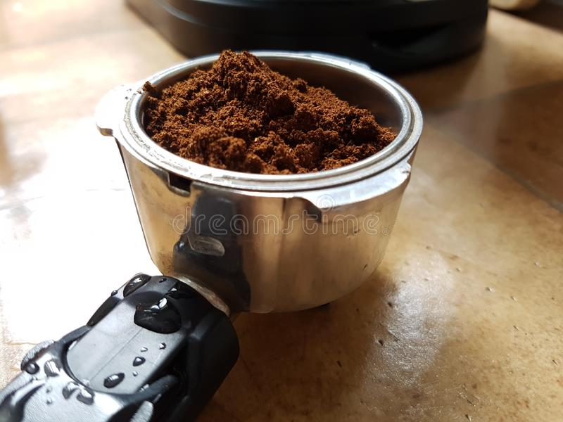 Ground coffee grinded royalty free stock photos