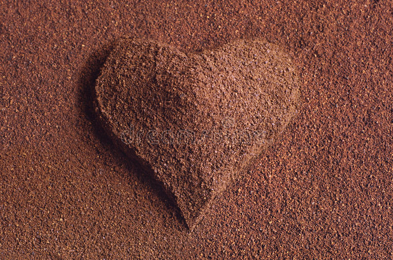 Download Ground coffee with a heart stock image. Image of valentine - 28681761