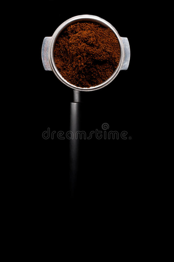 Ground coffee powder background cocoa scoop. Ground coffee powder background cocoa powder background coffee scoop royalty free stock photography