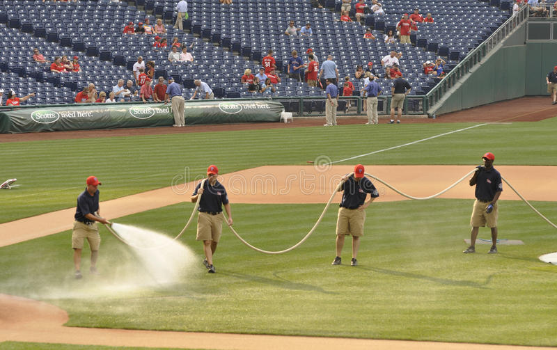 Ground Crew At Citizen S Bank Park Editorial Image