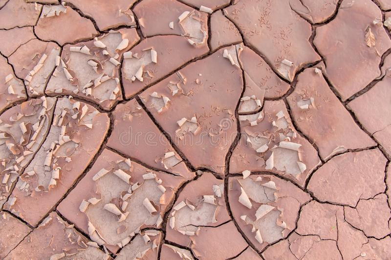 Ground in drought,soil texture and dry mud,land with dry cracked ground. Earth desert background nature dirt sand clay pattern hot environment broken surface royalty free stock photos