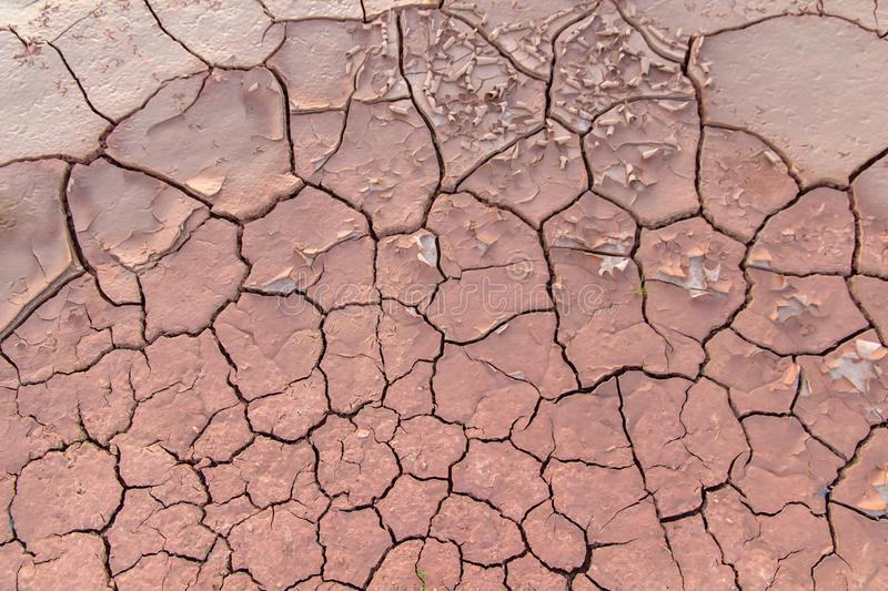 Ground in drought,soil texture and dry mud,land with dry cracked ground. Earth desert background nature dirt sand clay pattern hot environment broken surface royalty free stock photography