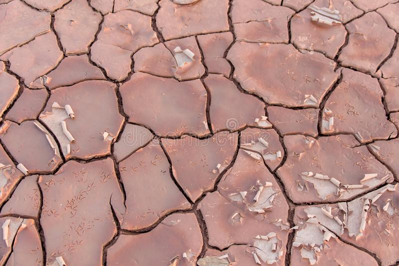Ground in drought,soil texture and dry mud,land with dry cracked ground. Earth desert background nature dirt sand clay pattern hot environment broken surface royalty free stock image