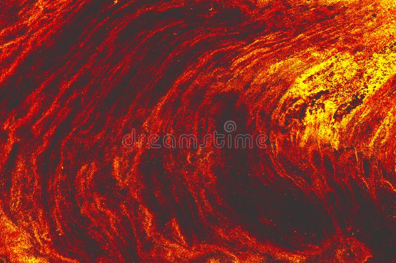 The ground is full of lava, Global warming. stock illustration