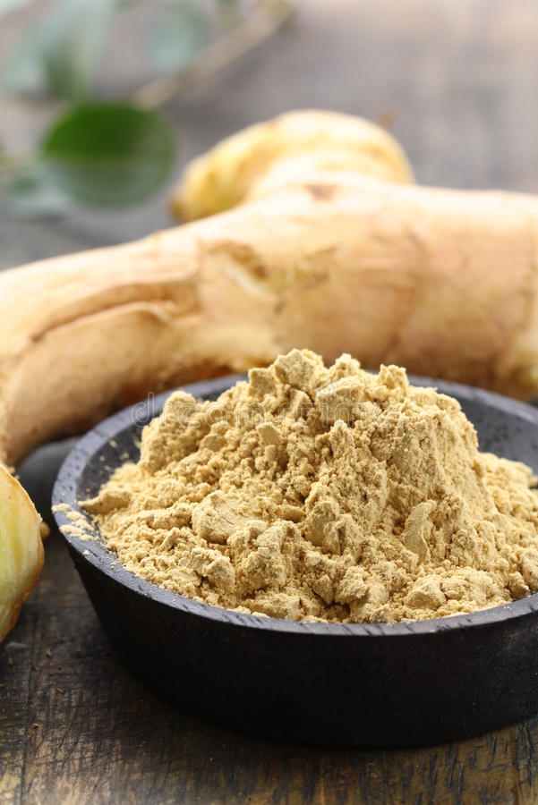 Download Ground Ginger (spice) And Fresh Stock Images - Image: 26818204
