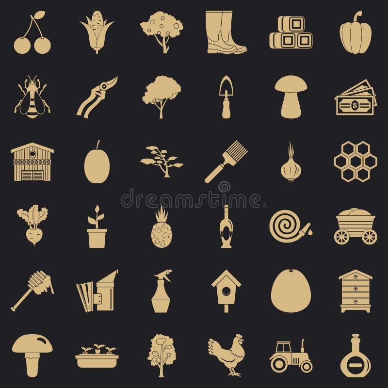 Ground icons set, simple style. Ground icons set. Simple style of 36 ground vector icons for web for any design royalty free illustration