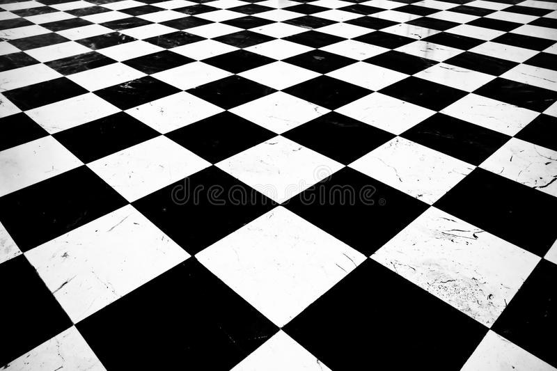 Ground pattern chess. Floor Black-White textues royalty free stock images