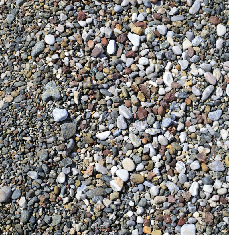Ground pebbles. Texture of colorful ground pebbles royalty free stock images