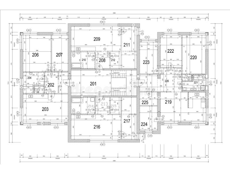 Ground Plan Of Flat Building Stock Photo Image of window bath