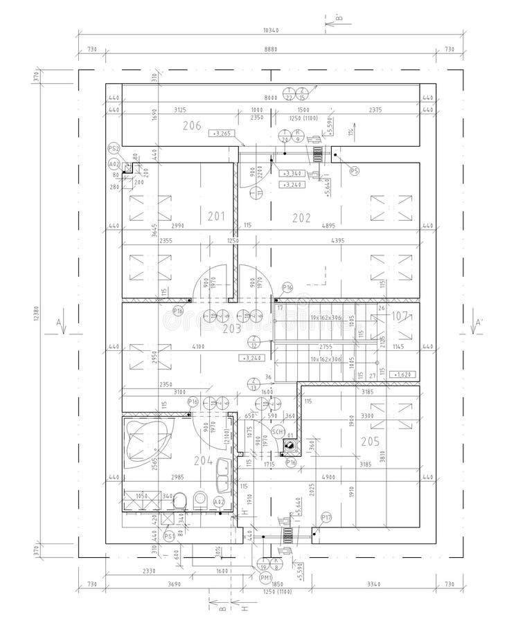 Ground Plan Of Flat Building Stock Illustration Illustration of