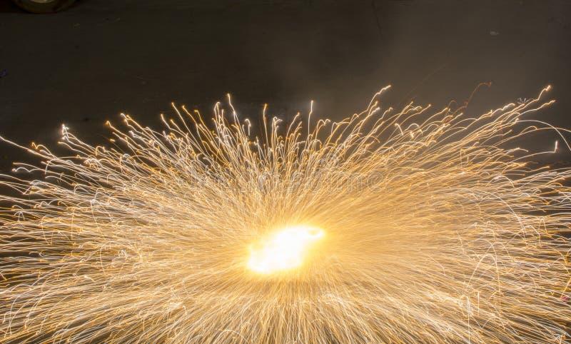 Ground Spinner Fire cracker - In Festival celebration stock photography