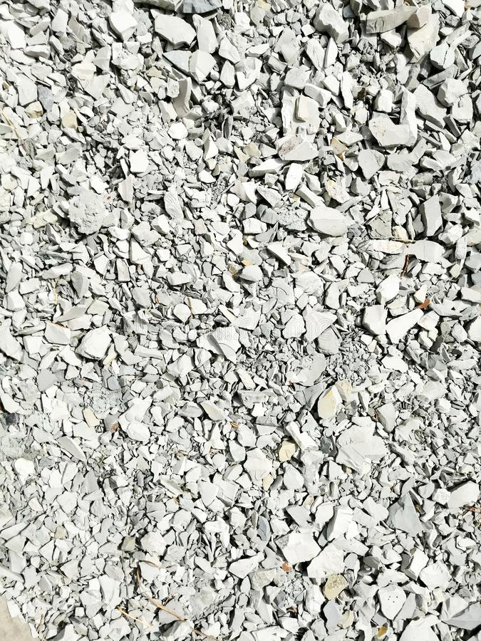 Ground stone for construction work royalty free stock images