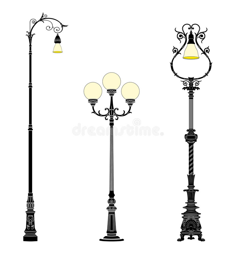 Download Ground street lamps stock vector. Illustration of vector - 7711321