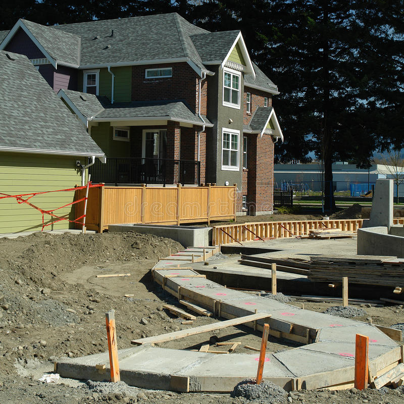 New Housing And Construction Site stock image