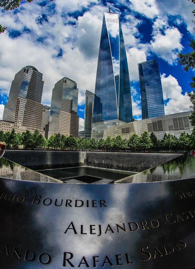 Ground Zero and One World Trade Center. Shooting location :  Manhattan, New York royalty free stock images