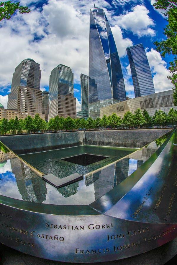 Ground Zero and One World Trade Center. Shooting location :  Manhattan, New York stock photography