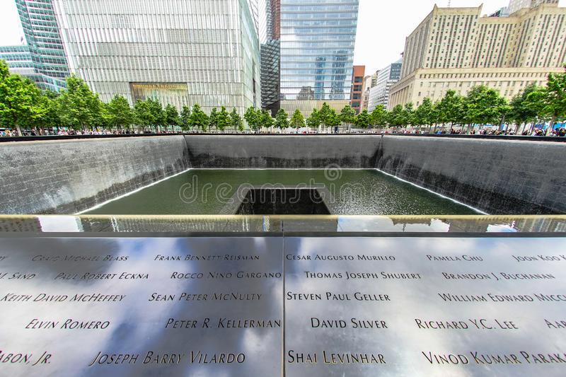 Ground Zero. Shooting location :  Manhattan, New York royalty free stock images