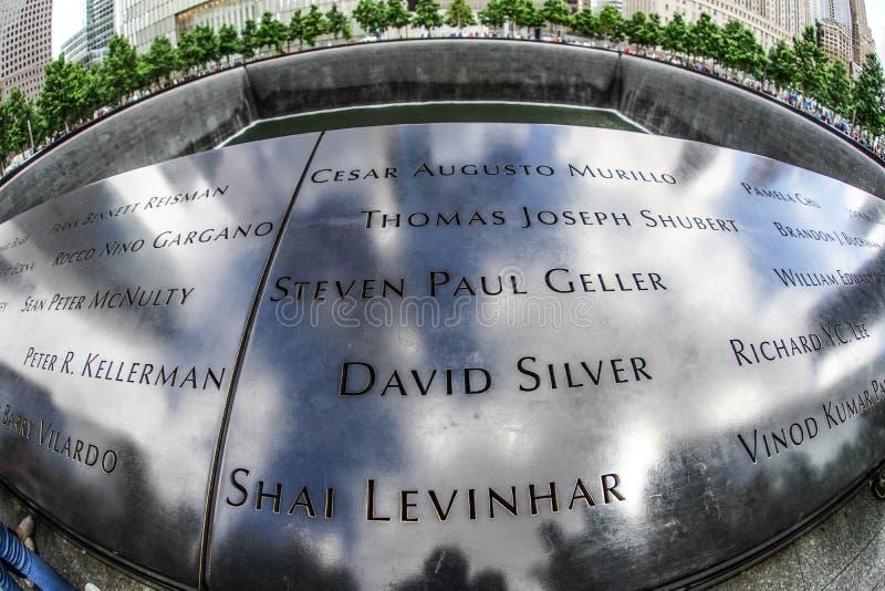 Ground Zero. Shooting location :  Manhattan, New York stock image