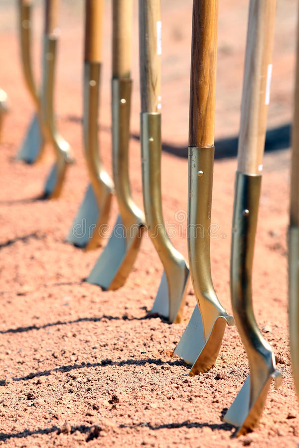 Free Groundbreaking Ceremony Shovels Royalty Free Stock Photography - 12850607