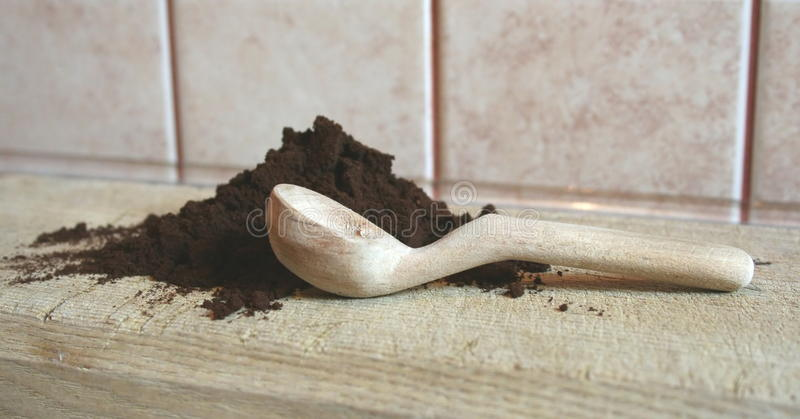 Grounded coffe stock image