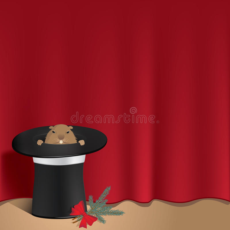 Groundhog In A Cylinder Royalty Free Stock Photo