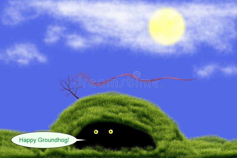 Groundhog dans le jour de Groundhog illustration libre de droits