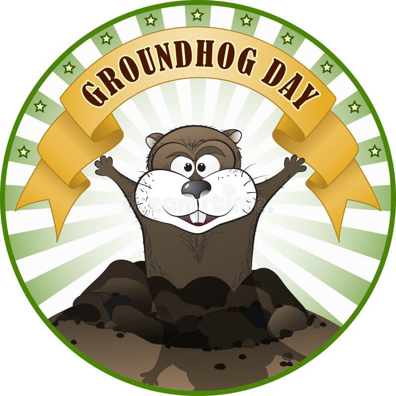 Groundhog Day royalty free illustration