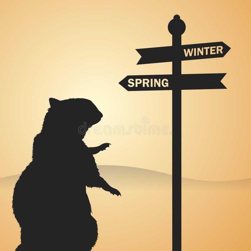 Groundhog Day stock abbildung