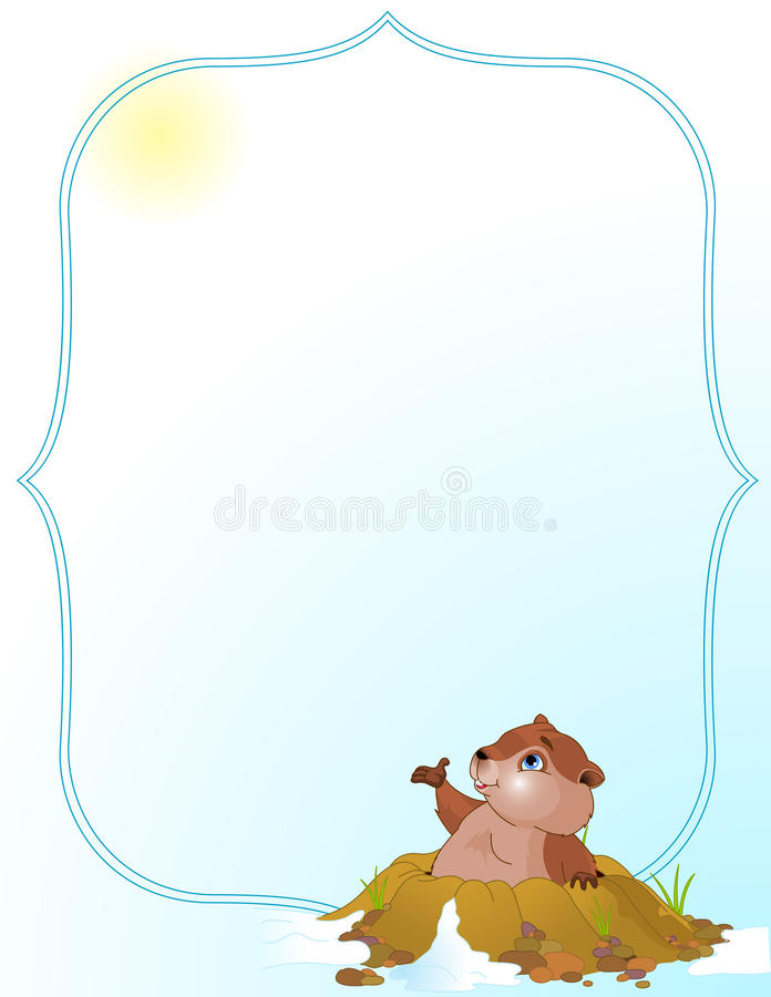 Download Groundhog Day Background stock illustration. Illustration of cartoon - 12575427
