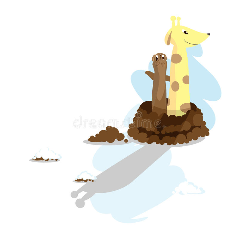 Groundhog Day_giraffe royalty free stock photos
