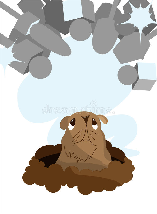 Groundhog Day_report Stock Photography