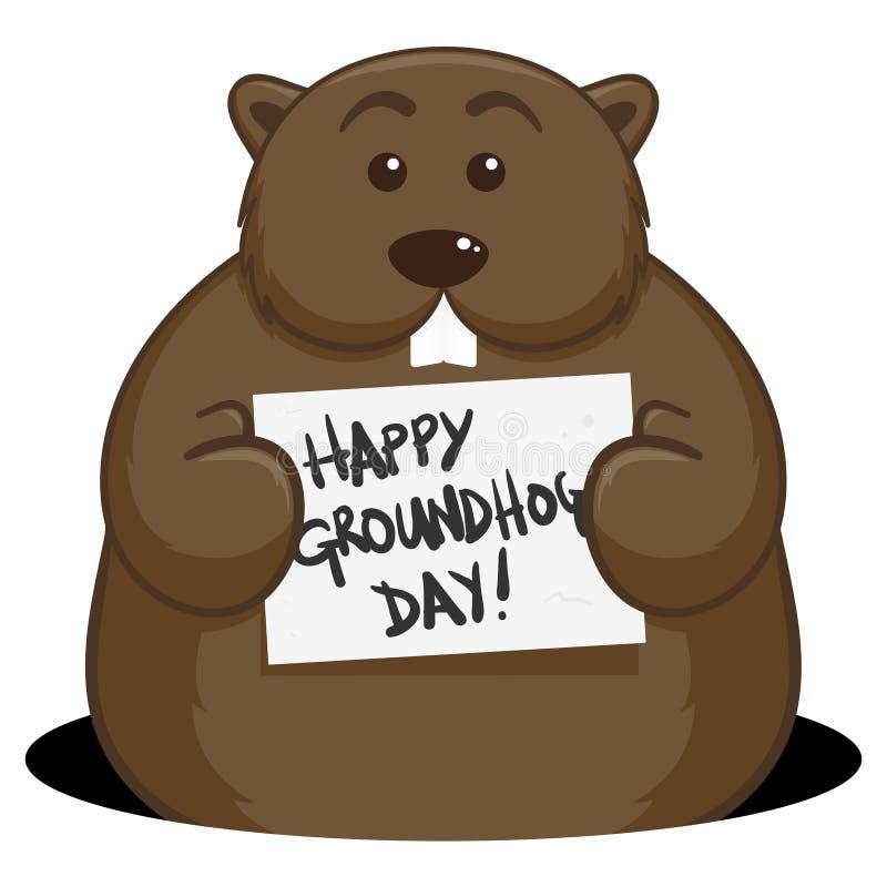 Groundhog Dzień royalty ilustracja