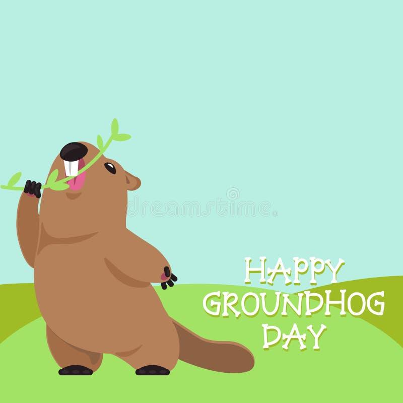 Groundhog Dzień ilustracja wektor