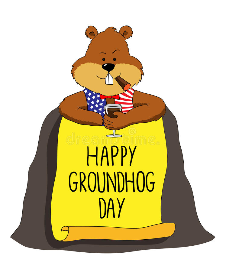 groundhog happy groundhog day stock vector illustration of vector rh dreamstime com  groundhog day clipart free