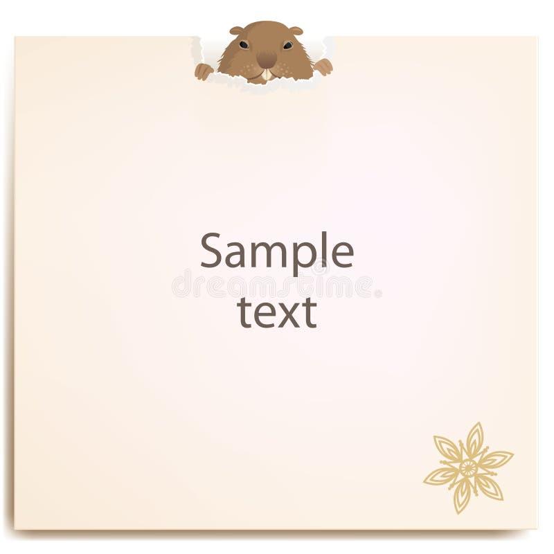 Groundhog hinter einem Papier stockfotos