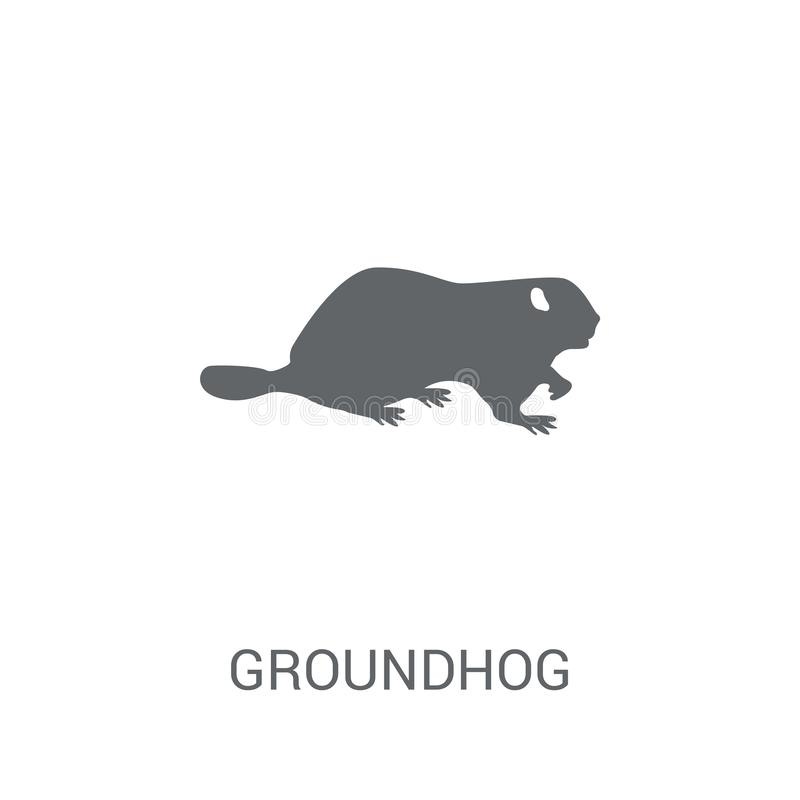 Groundhog icon. Trendy Groundhog logo concept on white background from animals collection royalty free illustration