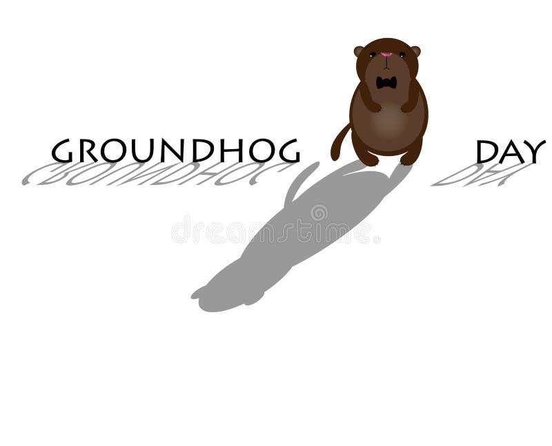 Groundhog lindo de la historieta ilustración del vector
