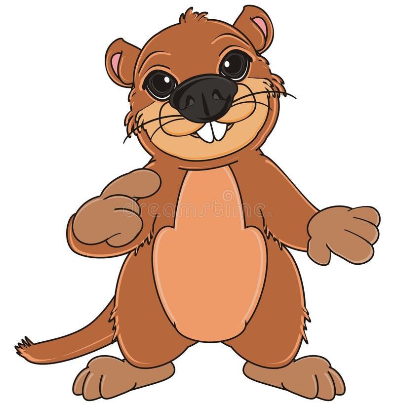 Groundhog mit Geste vektor abbildung