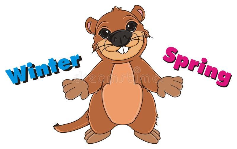 Groundhog mit unterschiedlichem Namen stock abbildung