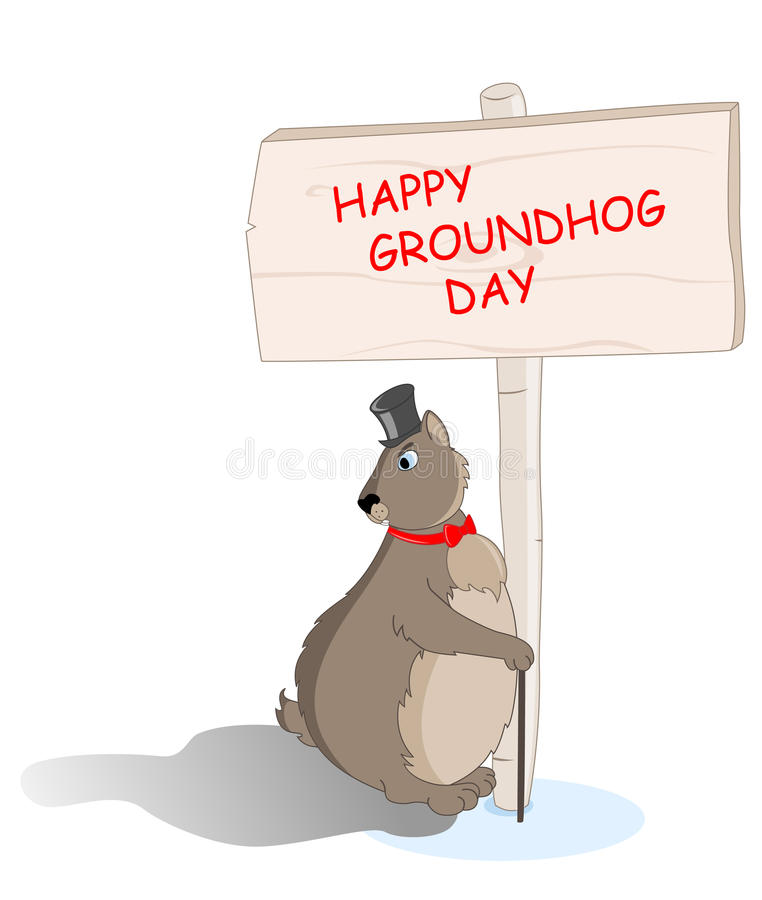 Groundhog Saw His Shadow Royalty Free Stock Photo