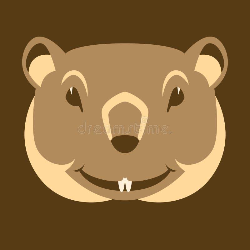 Groundhog stellen flache Art der Hauptvektorillustration gegenüber stock abbildung