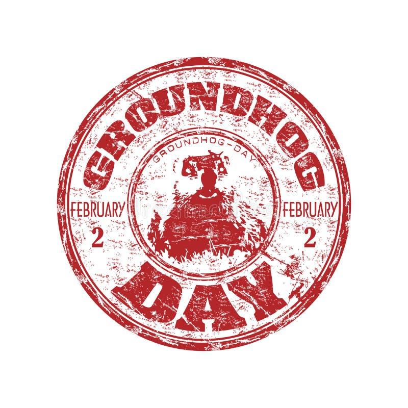 Groundhog TagesStempel stock abbildung