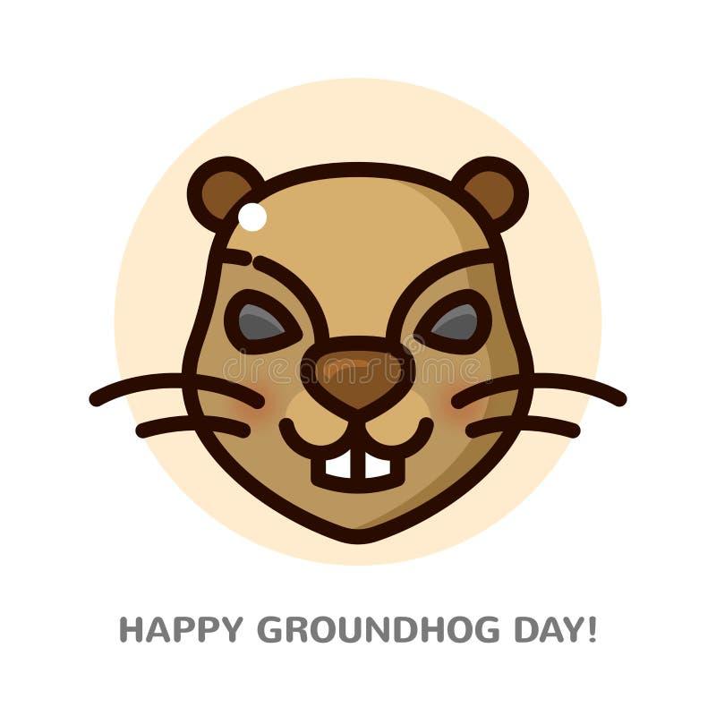 Groundhog-Tagesvektorillustration vektor abbildung