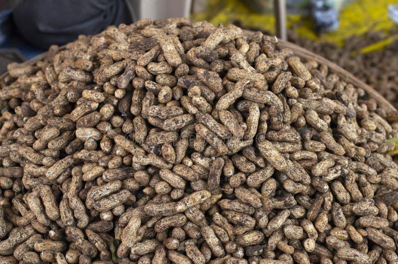 Groundnut peanuts for sale, Pune Maharashtra. Close view of groundnut peanuts for sale, Pune Maharashtra stock photos