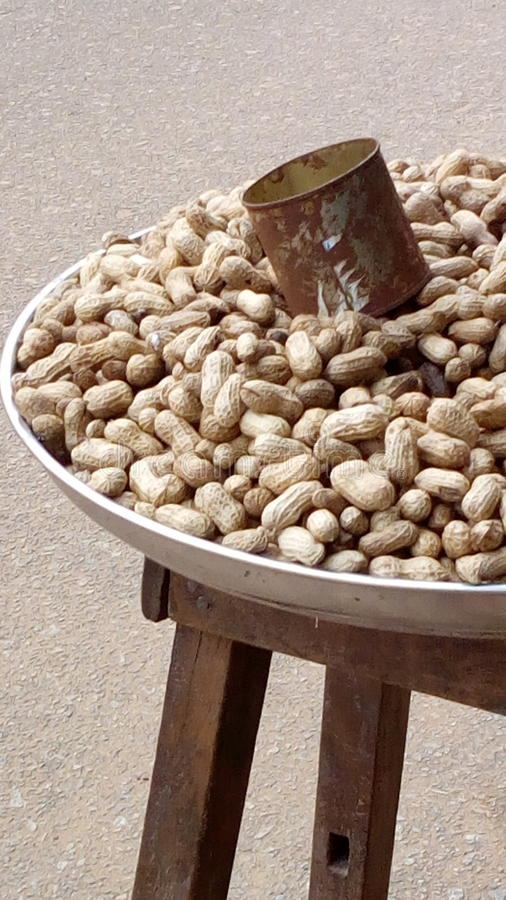 Groundnut. Stand outdoor stock photography