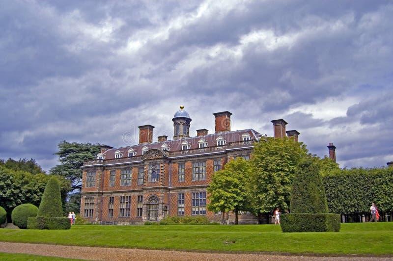 Grounds of sudbury hall. Sudbury hall, sudbury, derbyshire, england, united kingdom stock photography