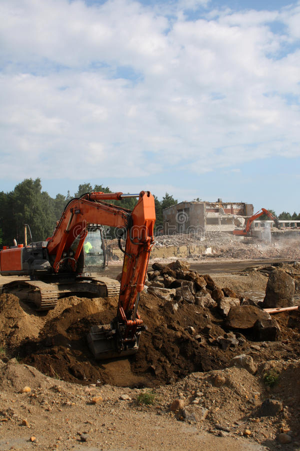 Free Groundwork On Construction Site Royalty Free Stock Photo - 20242645